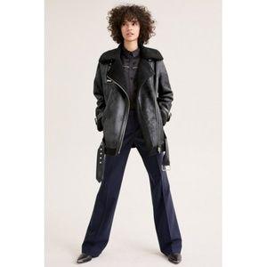 Avec Les Filles Faux Shearling Moto Jacket sz. 1X